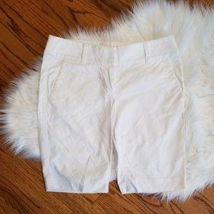 LOFT White Bermuda Shorts size 0